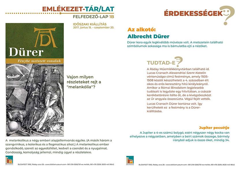 Dürer: Fénybe metszett vonalak