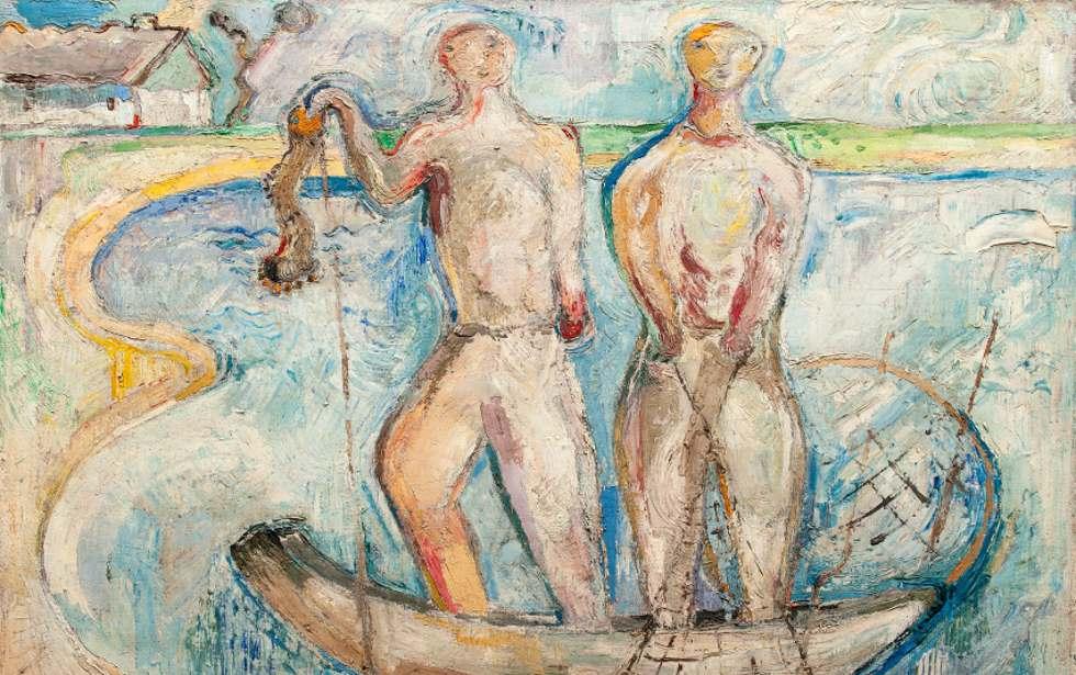 Halászok c. kép