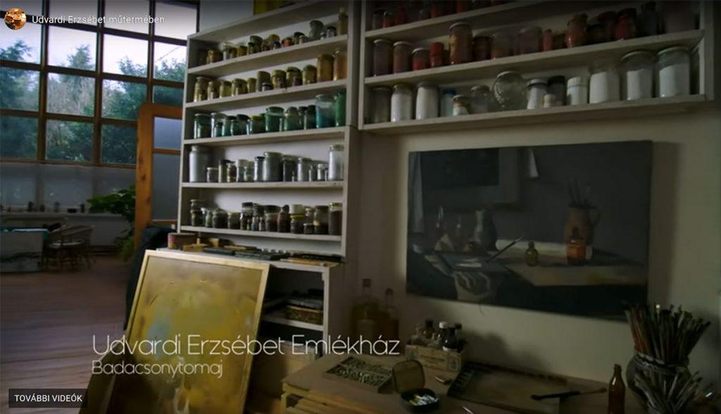 Udvardi Erzsébet műtermében